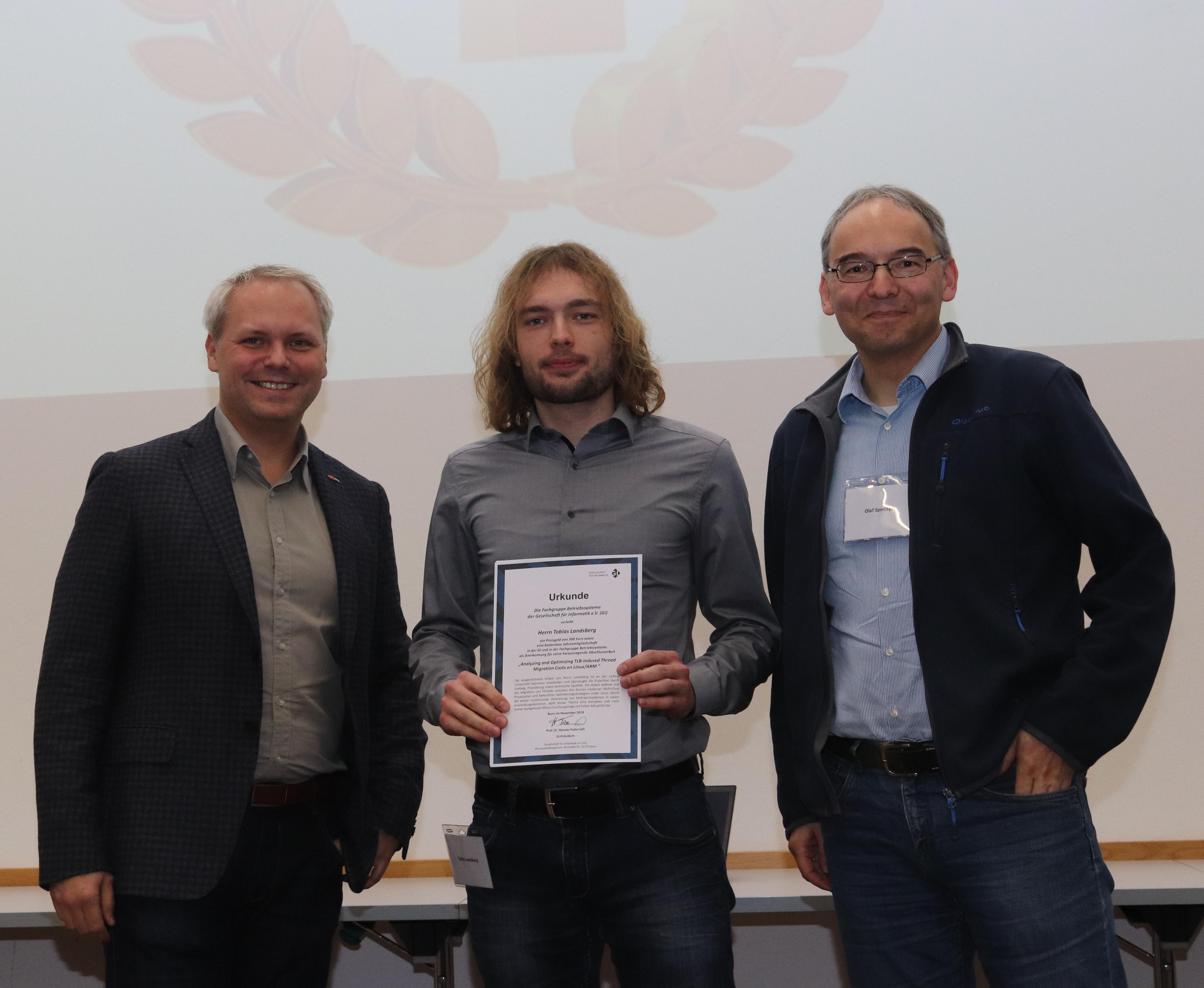 Preisträger des Absolventenpreises der Fachgruppe